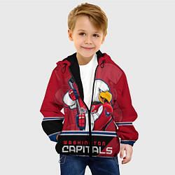 Куртка с капюшоном детская Washington Capitals цвета 3D-черный — фото 2