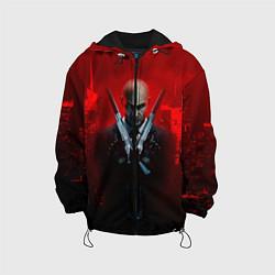Куртка с капюшоном детская Hitman: Red Blood цвета 3D-черный — фото 1