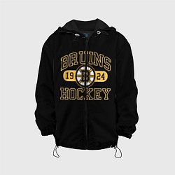 Детская 3D-куртка с капюшоном с принтом Boston Bruins: Est.1924, цвет: 3D-черный, артикул: 10107809605458 — фото 1