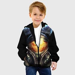Куртка с капюшоном детская StarC 2 цвета 3D-черный — фото 2