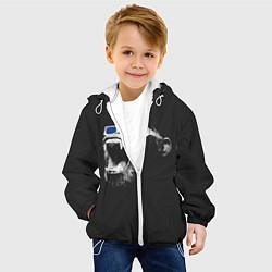 Куртка с капюшоном детская 3D Monkey цвета 3D-белый — фото 2
