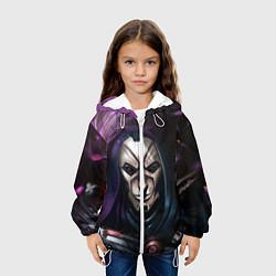 Детская 3D-куртка с капюшоном с принтом Mask, цвет: 3D-белый, артикул: 10114907605458 — фото 2