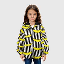 Детская 3D-куртка с капюшоном с принтом Bananas Lines, цвет: 3D-черный, артикул: 10133520905458 — фото 2