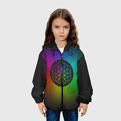 Куртка с капюшоном детская Coldplay Colour цвета 3D-черный — фото 2