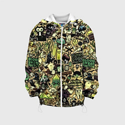 Детская 3D-куртка с капюшоном с принтом Стикер бомбинг, цвет: 3D-белый, артикул: 10138052305458 — фото 1