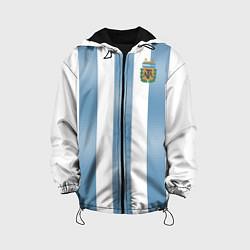 Детская 3D-куртка с капюшоном с принтом Сборная Аргентины: ЧМ-2018, цвет: 3D-черный, артикул: 10139962305458 — фото 1