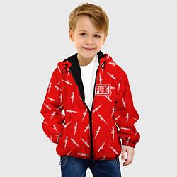 Куртка с капюшоном детская PUBG: Red Weapon цвета 3D-черный — фото 2
