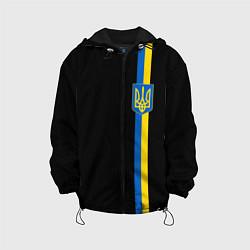 Куртка с капюшоном детская Украина цвета 3D-черный — фото 1