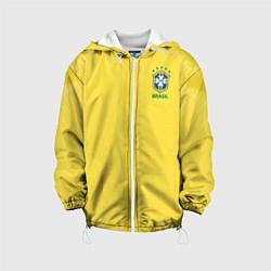 Детская 3D-куртка с капюшоном с принтом Бразилия: ЧМ-2018, цвет: 3D-белый, артикул: 10149097905458 — фото 1