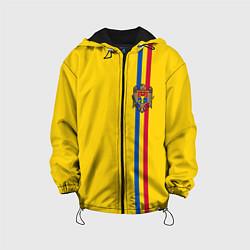 Куртка с капюшоном детская Молдавия: лента с гербом цвета 3D-черный — фото 1