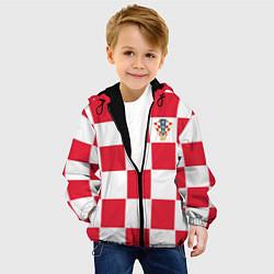 Куртка с капюшоном детская Сборная Хорватии: Домашняя ЧМ-2018 цвета 3D-черный — фото 2