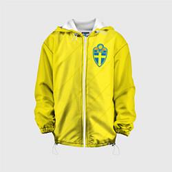 Куртка с капюшоном детская Сборная Швеции: Домашняя ЧМ-2018 цвета 3D-белый — фото 1