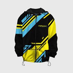 Детская 3D-куртка с капюшоном с принтом Cyberpunk 2077: Samurai, цвет: 3D-черный, артикул: 10154577105458 — фото 1