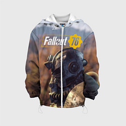Детская 3D-куртка с капюшоном с принтом Fallout 76, цвет: 3D-белый, артикул: 10154596505458 — фото 1