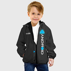 Куртка с капюшоном детская RK800 Android цвета 3D-черный — фото 2