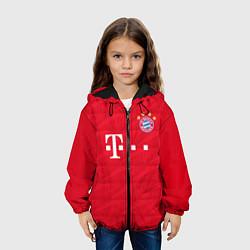 Детская 3D-куртка с капюшоном с принтом FC Bayern: Home 19-20, цвет: 3D-черный, артикул: 10180408705458 — фото 2