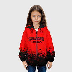 Детская 3D-куртка с капюшоном с принтом STRANGER THINGS, цвет: 3D-черный, артикул: 10183307305458 — фото 2