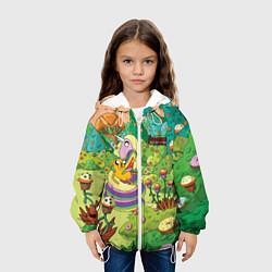 Куртка с капюшоном детская Ливнерог и Джейк цвета 3D-белый — фото 2
