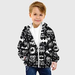 Детская 3D-куртка с капюшоном с принтом Batman, цвет: 3D-белый, артикул: 10194808905458 — фото 2