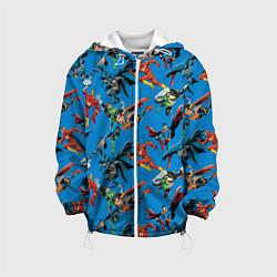 Детская 3D-куртка с капюшоном с принтом Justice League, цвет: 3D-белый, артикул: 10198773705458 — фото 1