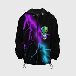 Куртка с капюшоном детская Brawl Stars LEON цвета 3D-черный — фото 1