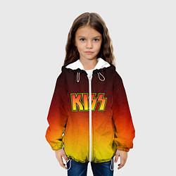 Детская 3D-куртка с капюшоном с принтом KISS, цвет: 3D-белый, артикул: 10204546505458 — фото 2