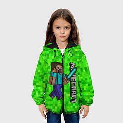 Куртка с капюшоном детская MINECRAFT цвета 3D-черный — фото 2