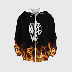 Детская 3D-куртка с капюшоном с принтом Noize MC, цвет: 3D-белый, артикул: 10207398105458 — фото 1