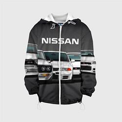 Детская 3D-куртка с капюшоном с принтом NISSAN, цвет: 3D-белый, артикул: 10208567305458 — фото 1