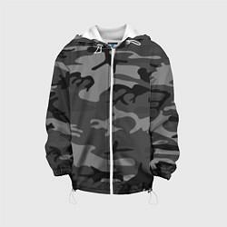 Детская 3D-куртка с капюшоном с принтом Военный камуфляж, цвет: 3D-белый, артикул: 10209365705458 — фото 1
