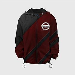 Детская 3D-куртка с капюшоном с принтом Nissan, цвет: 3D-черный, артикул: 10210483305458 — фото 1