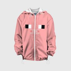 Куртка с капюшоном детская Minecraft Pig цвета 3D-белый — фото 1