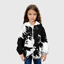 Детская 3D-куртка с капюшоном с принтом Виктор Цой, цвет: 3D-белый, артикул: 10239416505458 — фото 2