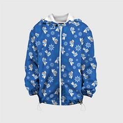 Детская 3D-куртка с капюшоном с принтом Снеговик Олаф, цвет: 3D-белый, артикул: 10248602105458 — фото 1