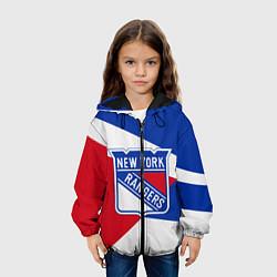 Куртка с капюшоном детская Нью-Йорк Рейнджерс цвета 3D-черный — фото 2