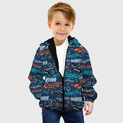 Детская 3D-куртка с капюшоном с принтом Finding Nemo паттерн, цвет: 3D-черный, артикул: 10274692905458 — фото 2