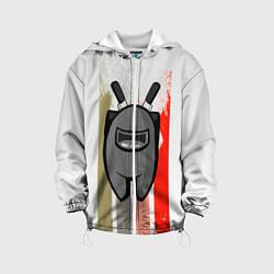 Куртка с капюшоном детская Among Us цвета 3D-белый — фото 1