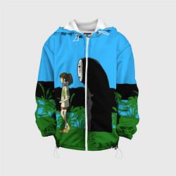 Детская 3D-куртка с капюшоном с принтом Унесенные призраками, цвет: 3D-белый, артикул: 10278109905458 — фото 1