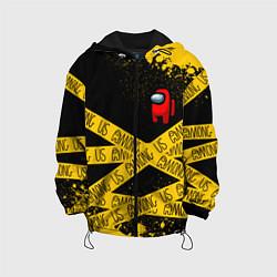 Куртка с капюшоном детская AMONG US Амонг Ас цвета 3D-черный — фото 1