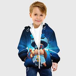 Куртка с капюшоном детская Генерал Гавс brawl stars цвета 3D-белый — фото 2