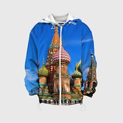 Куртка с капюшоном детская Храм Василия Блаженного цвета 3D-белый — фото 1