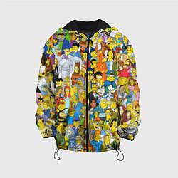 Куртка с капюшоном детская Simpsons Stories цвета 3D-черный — фото 1