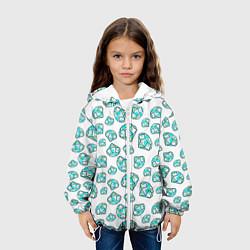 Куртка с капюшоном детская Бриллианты цвета 3D-белый — фото 2