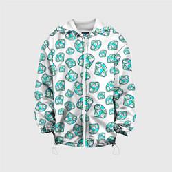 Куртка с капюшоном детская Бриллианты цвета 3D-белый — фото 1