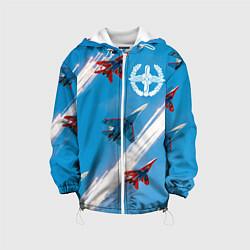 Куртка с капюшоном детская Самолеты ВВС цвета 3D-белый — фото 1