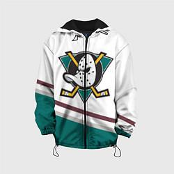 Детская 3D-куртка с капюшоном с принтом Anaheim Ducks Selanne, цвет: 3D-черный, артикул: 10071132805458 — фото 1
