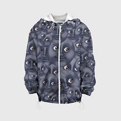 Куртка с капюшоном детская Эмодзи цвета 3D-белый — фото 1