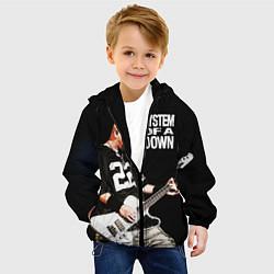 Детская 3D-куртка с капюшоном с принтом System of a Down, цвет: 3D-черный, артикул: 10072962205458 — фото 2