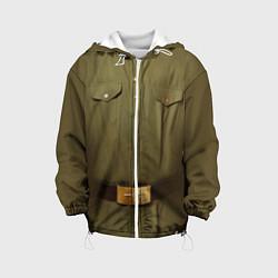 Куртка с капюшоном детская Униформа солдата цвета 3D-белый — фото 1