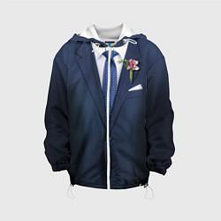 Детская 3D-куртка с капюшоном с принтом Жених, цвет: 3D-белый, артикул: 10075053205458 — фото 1